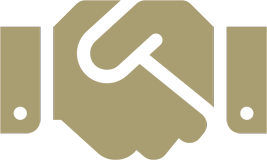 handshake icon gold