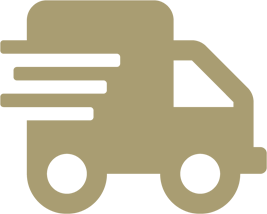 moving truck icon gold