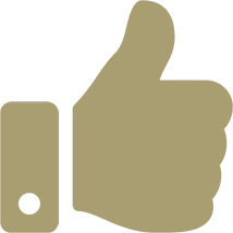 thumbs up icon gold